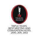 Triple years best meeting and convention hotel 2010, 2011, 2012