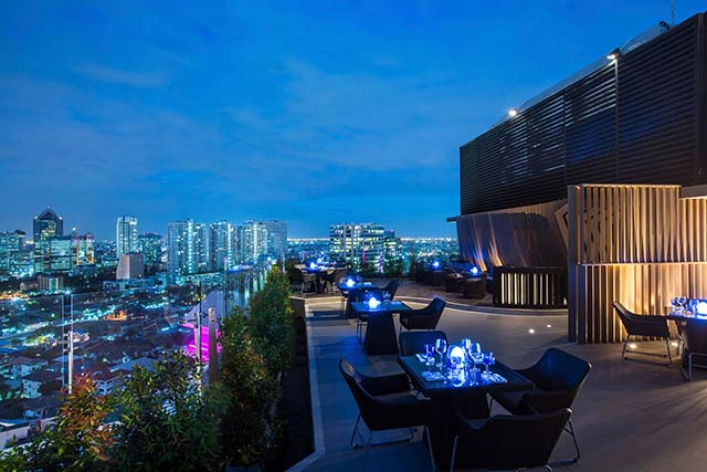 Blue Sky rooftop restaurant