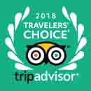 WINS 2018 TRIPADVISOR TRAVELERS' CHOICE AWARD FOR HOTELS