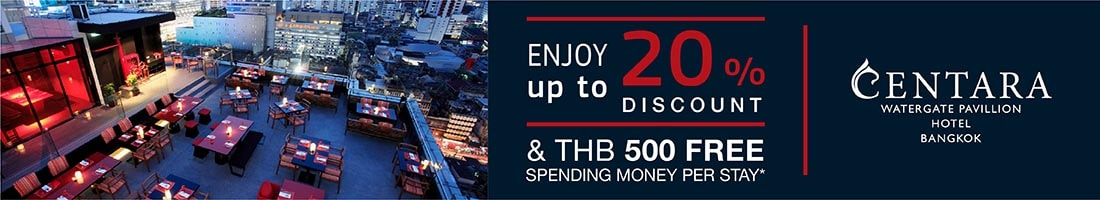 Bangkok exclusive, save up to 20%