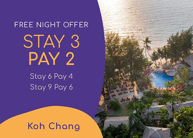Stay 3 nights pay only 2